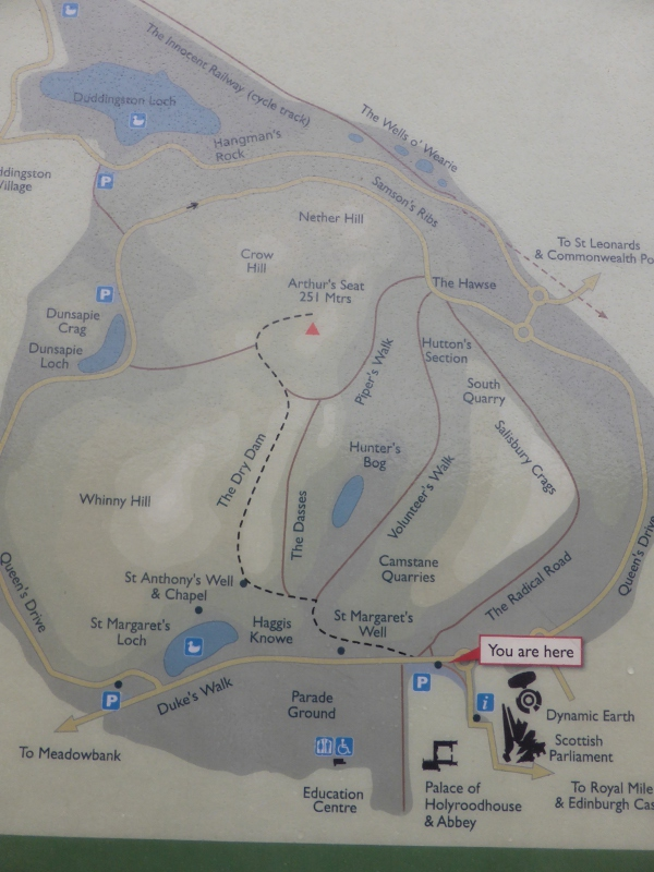 Arthur's Seat: the map