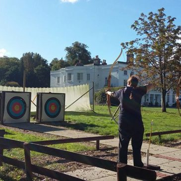 Archery practice for our practical instructing test