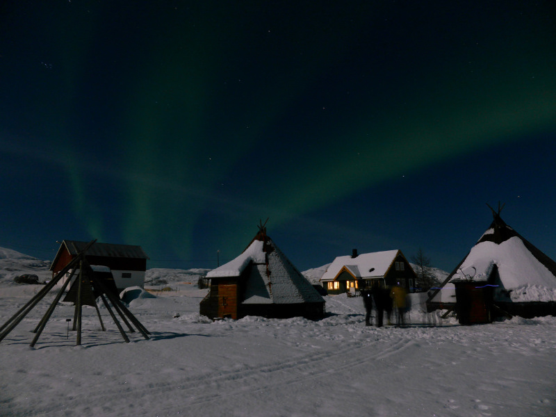 northern lights on Kvaloya