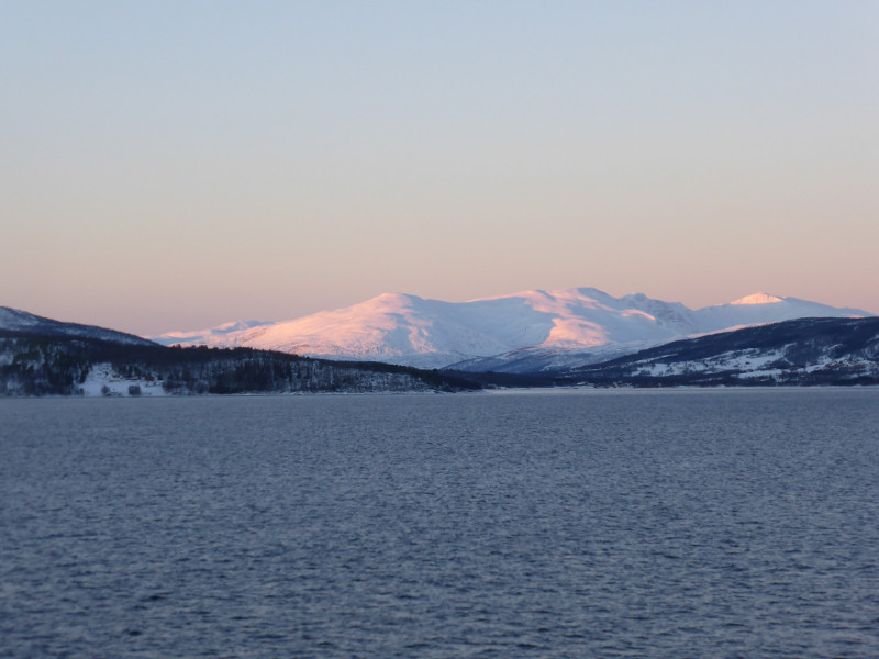sunrise over finnsnes