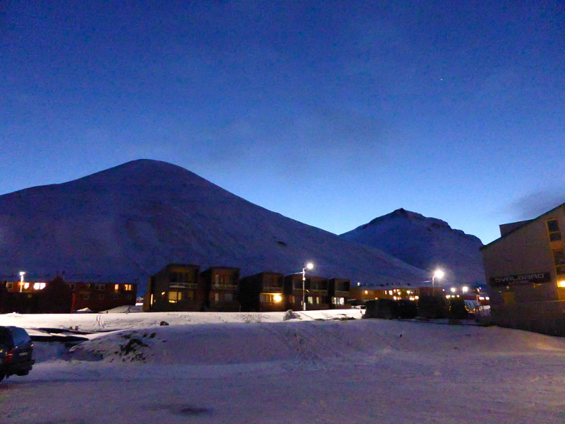 Longyearbyen in the snow