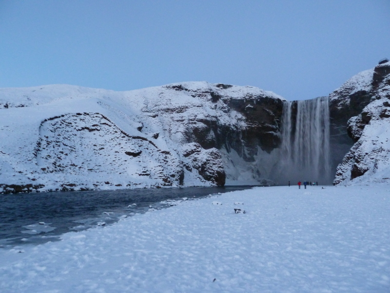 skogafoss in the snow