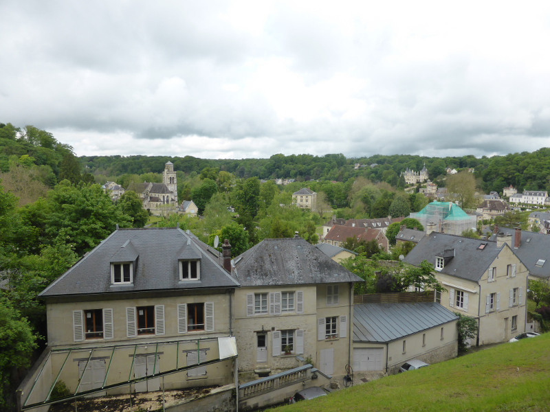Pierrefonds village from the castle