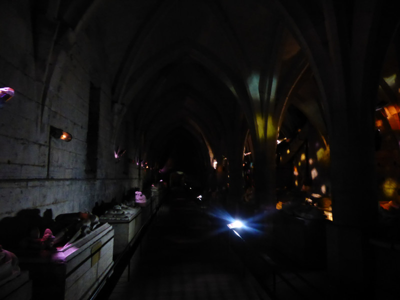 bal des gisants - the cellars at Pierrefonds