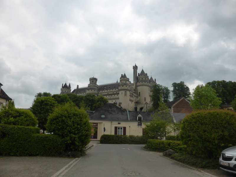 Pierrefonds Castle from the village