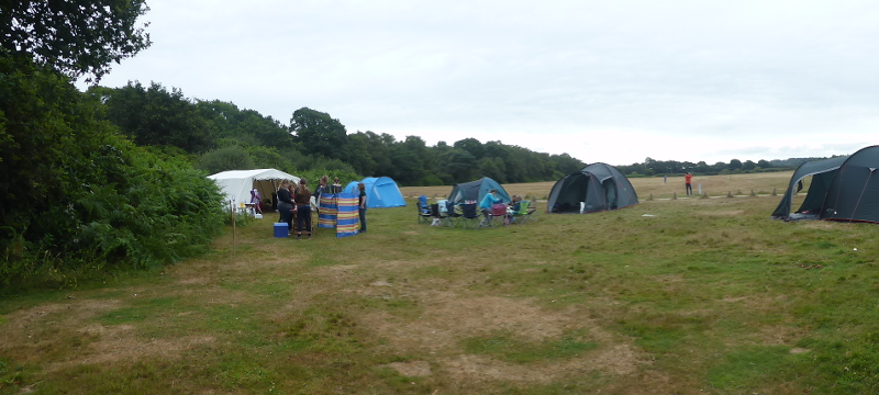 Alice camp - panorama of our campsite