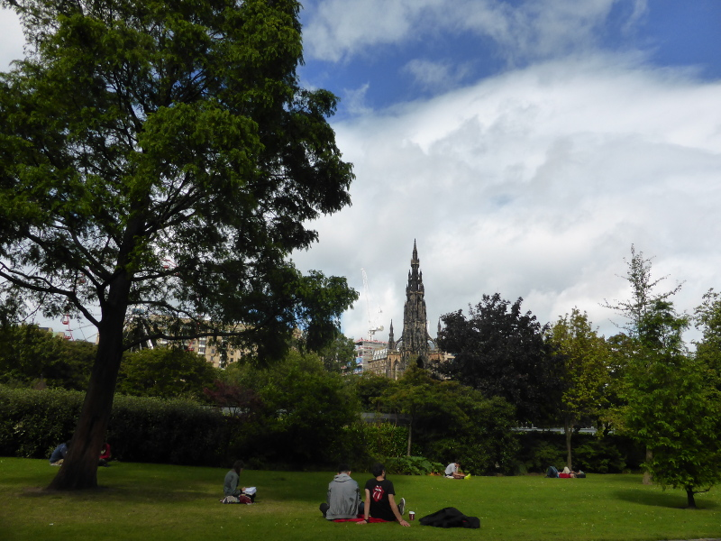 The Scott Monument from Princes Street Gardens