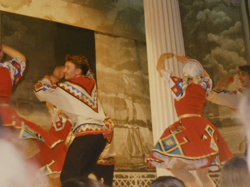 Folk dancing show, St Petersburg