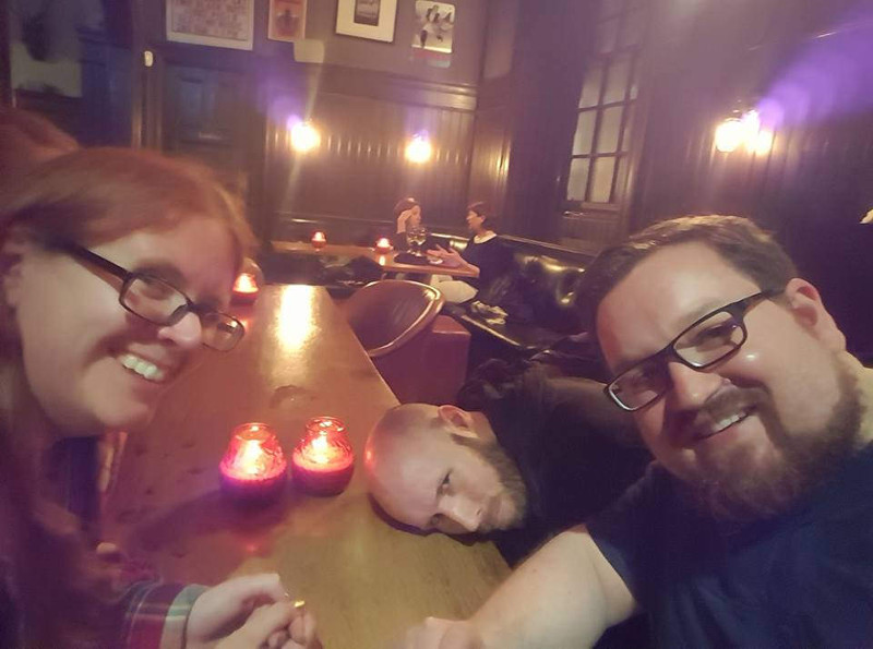 Me, Byron & Tom in the pub