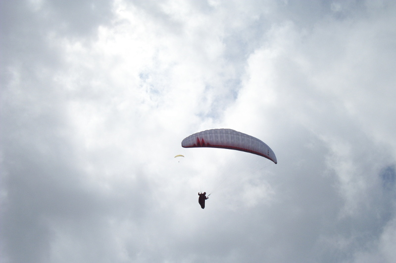 Paragliders over Pilatus