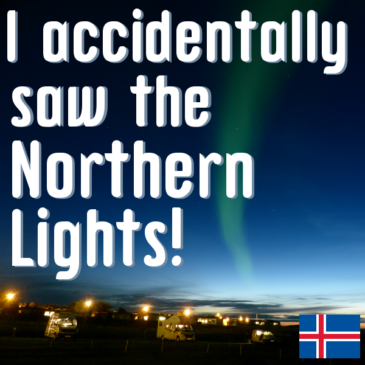 I accidentally saw the Northern Lights header pic
