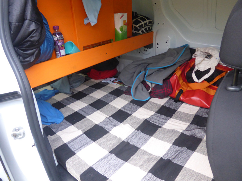 The inside of my campervan