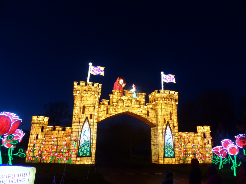 Beauty & the Beast lantern at Longleat's Festival of Light