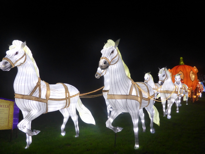 Cinderella's coach lantern at Longleat's Festival of Lights