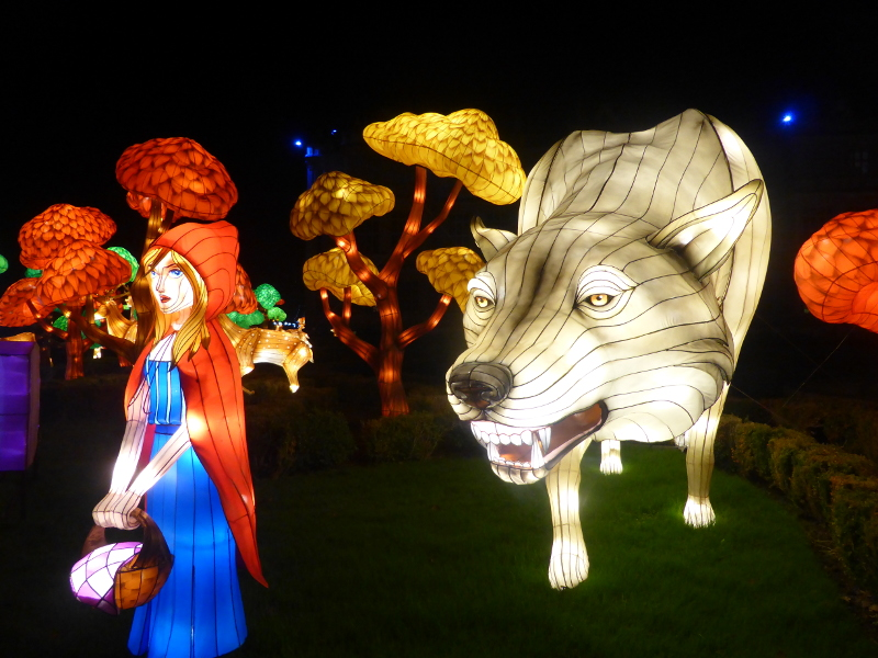 Little Red Riding Hood lantern at Longleat's Festival of Lights