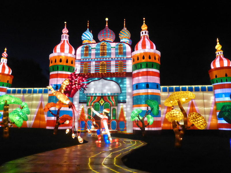 Prince Ivan's Castle lantern at Longleat's Festival of Lights