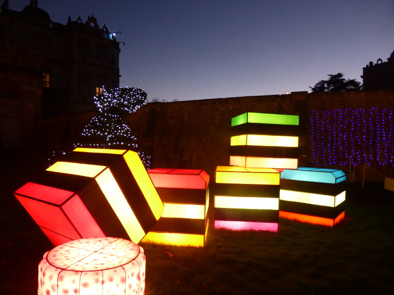 Giant sweets lanterns at Longleat's Festival of Lights