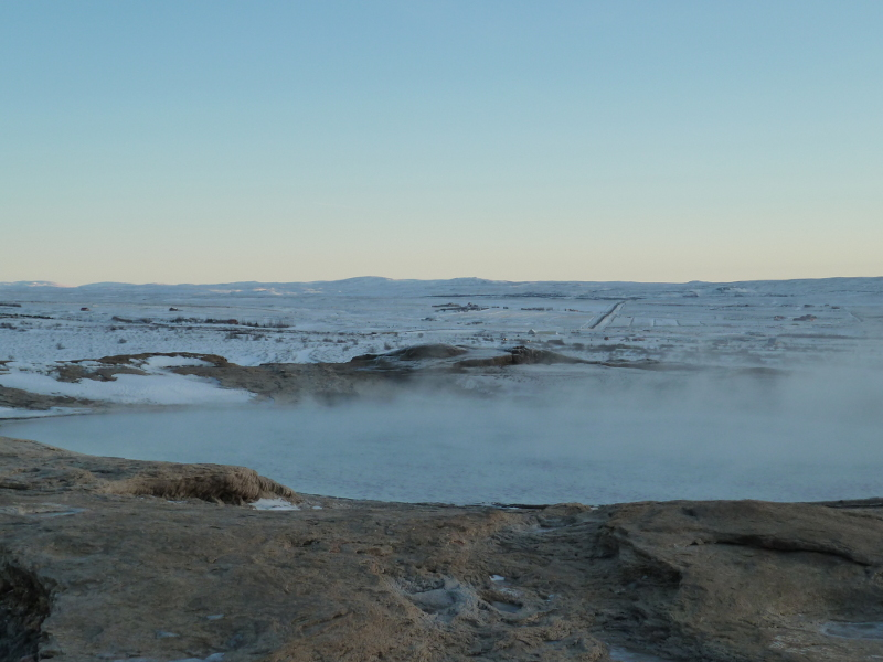 Geysir in winter