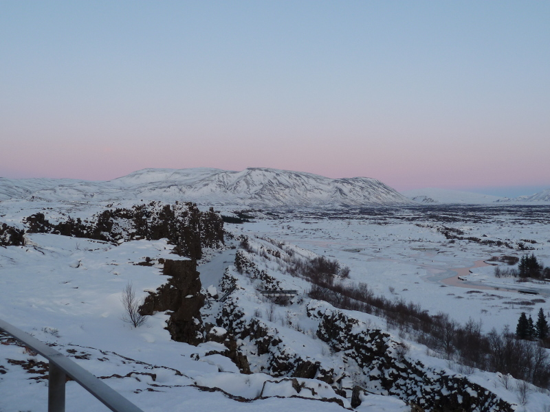 Þingvellir in winter
