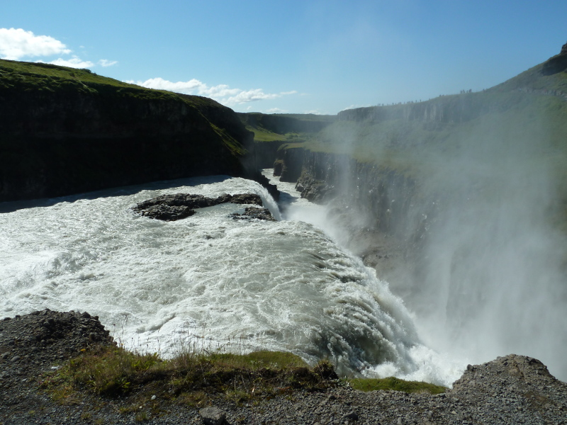 Gullfoss in summer
