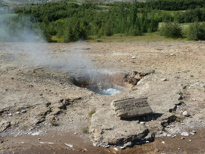 Geysir in summer