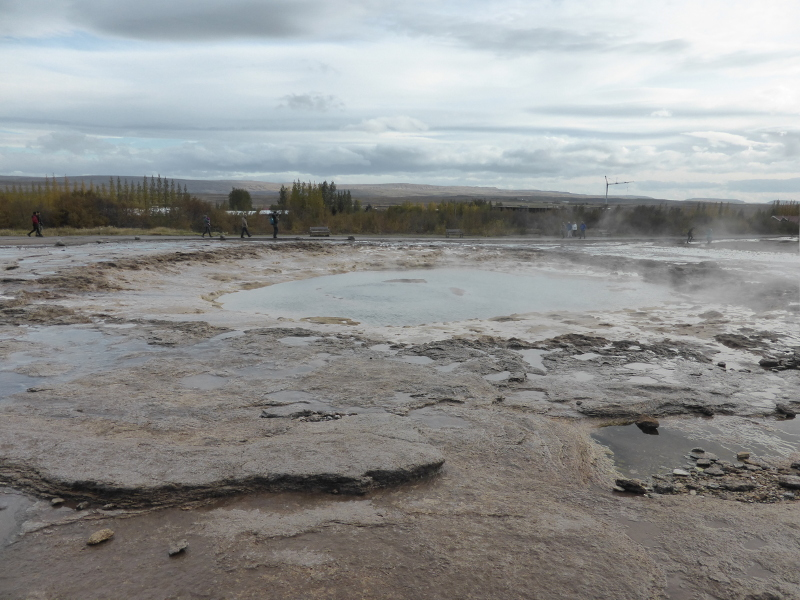 Geysir in autumn