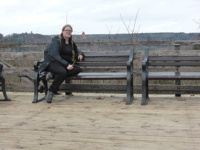 Me at Sigulda with Turaida Castle in the background