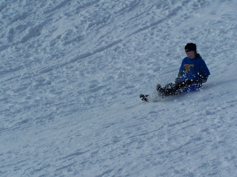 Me sledging at Chaumont