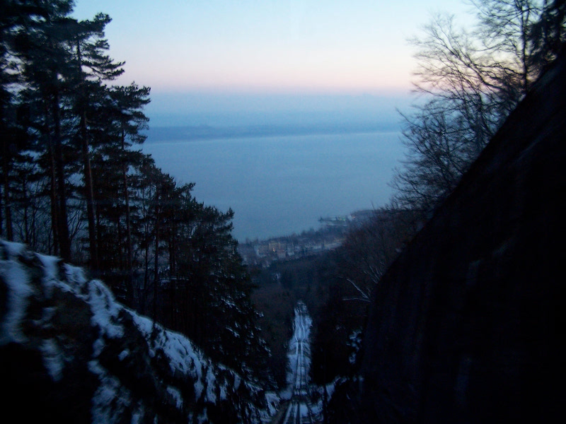 View down the funi from Chaumont to Neuchatel