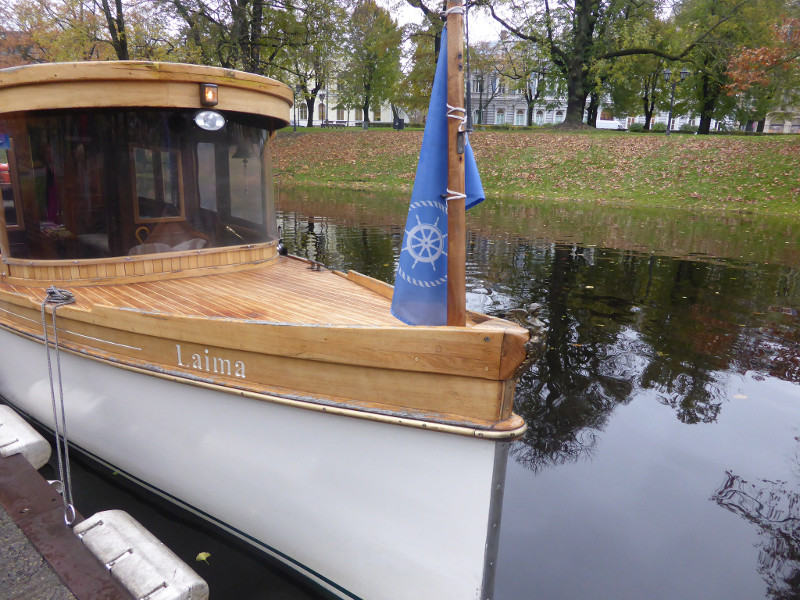 Riga by canal boat