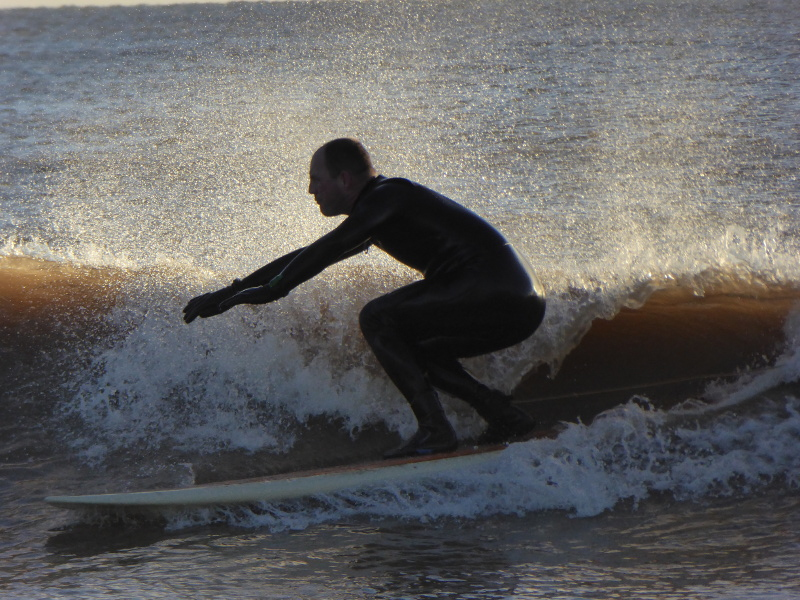 Surfer at Charmouth