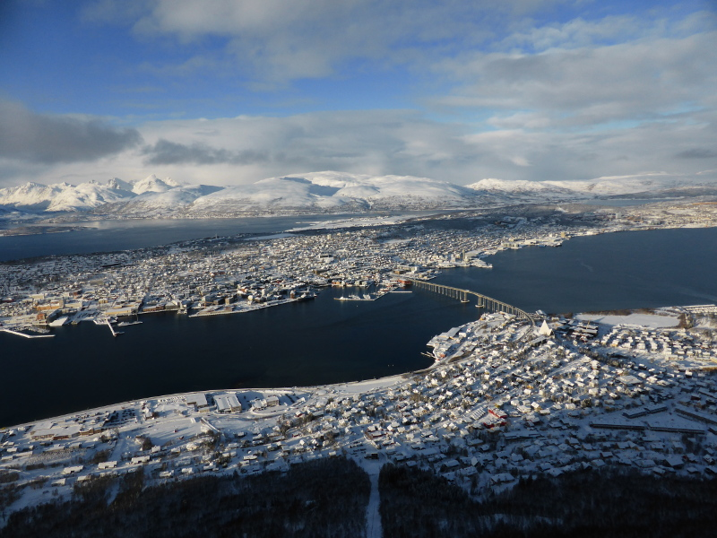 Tromsø from the top of the cablecar