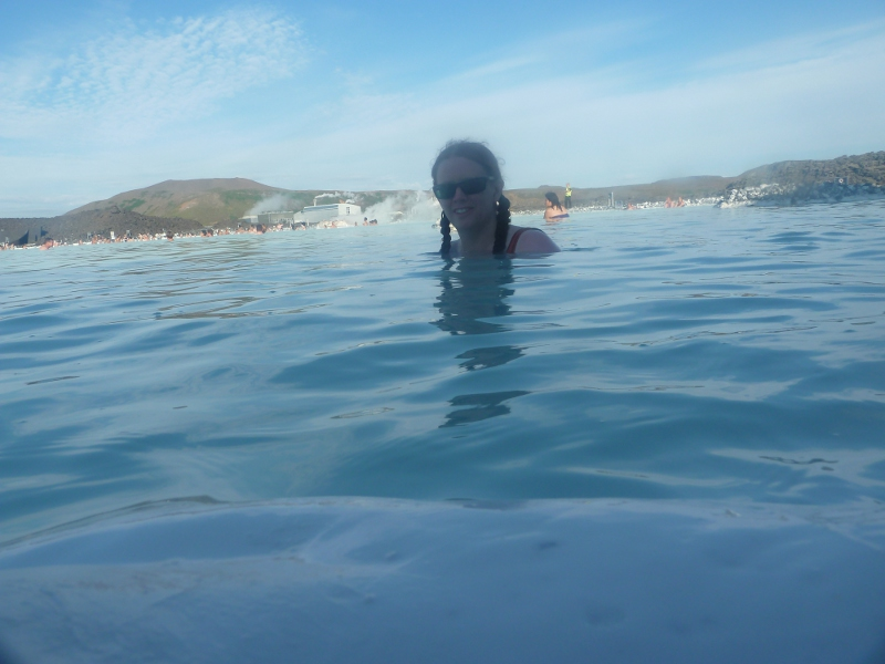 Timer selfie in the Blue Lagoon