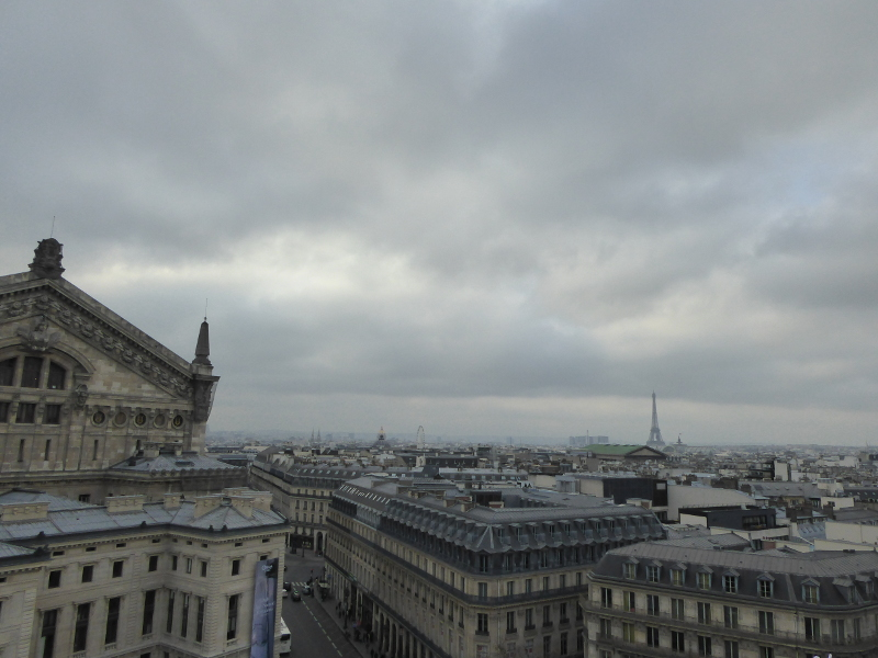 View from the roof of Galeries Lafayette