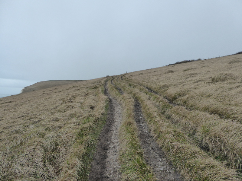 The climb up to the obelisk