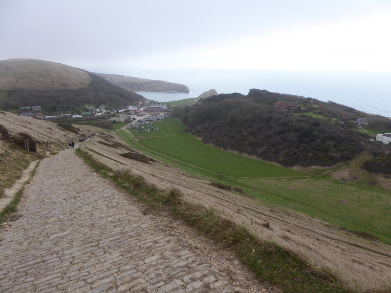 Walking back down to Lulworth