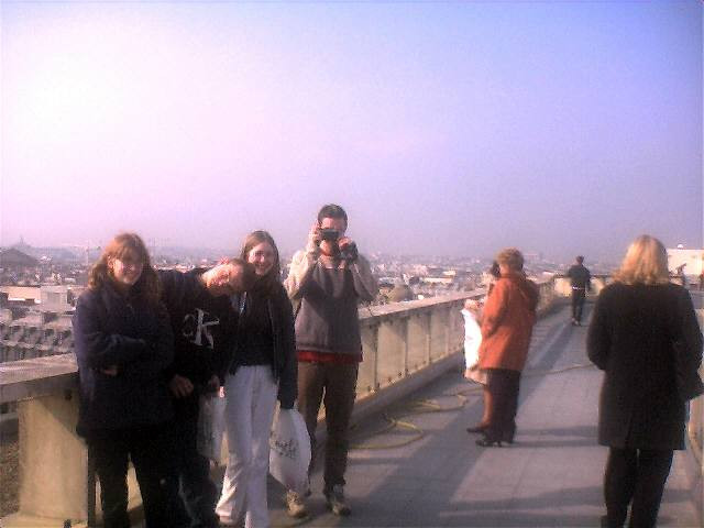 On the roof of Galeries Lafayette in 2002