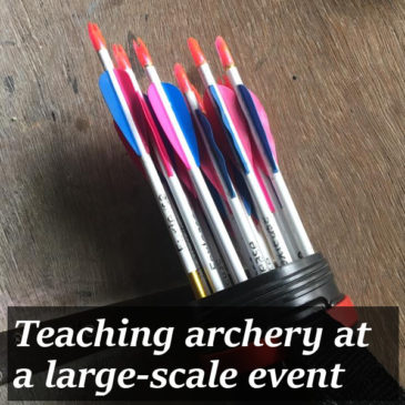 Teaching archery at a large-scale event title pic